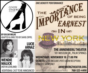 The Importance of Being Earnest flyers
